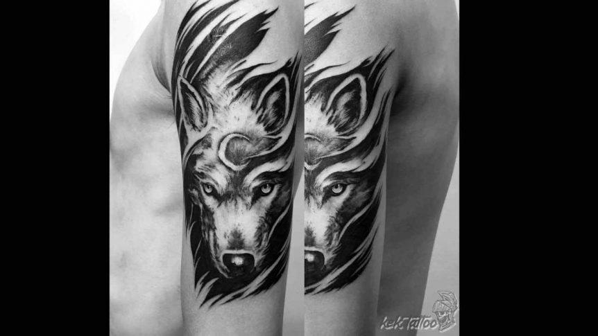 凱克刺青作品-狼